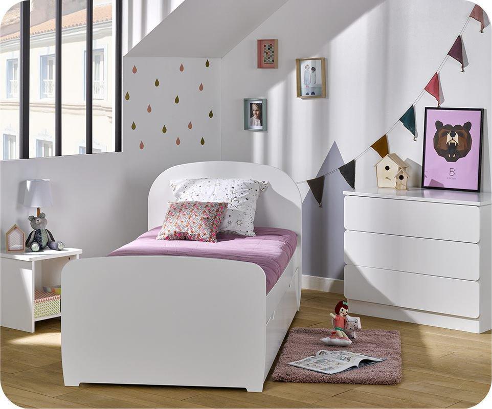Dormitorio juvenil luen blanco set de 3 muebles - Dormitorio infantil blanco ...