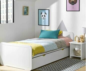 pack cama juvenil lemon xcm blanca colchn somier