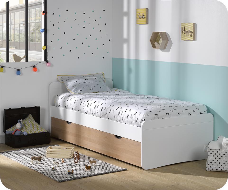 Camas juveniles camas nido juveniles pack cama nido for Cama nido color haya