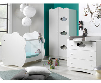 Dormitorios de bebe cuna c moda armario fabricaci n ecol gica - Habitacion completa bebe ...