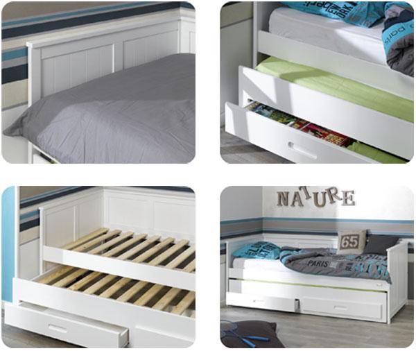 Sof cama nido juvenil del modelo swam for Sofa cama juvenil