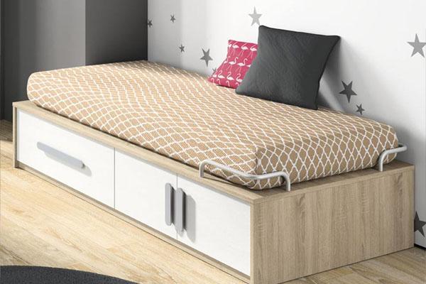 Modelos de cama compacta con cajones para tus hijos for Estructura cama 90x200