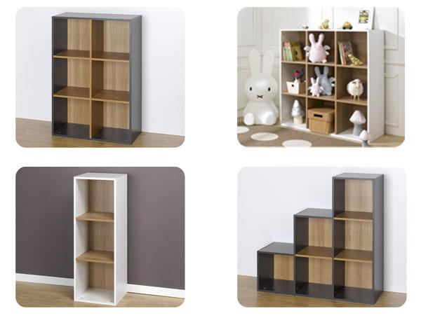 estanteras modulares compartimentos