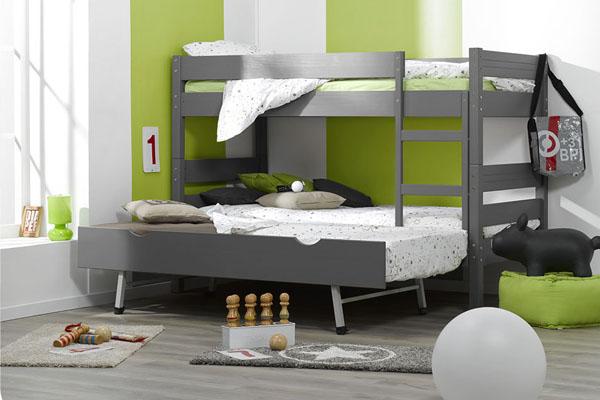 Camas juveniles para ahorrar espacio - Litera con cama nido ...