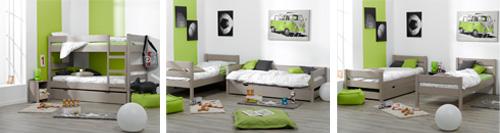Litera juvenil 1 2 3 litera 2 camas o cama y sofa for Camas gemelas juveniles