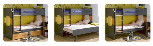 Camas en altura litera eden cama nido supletoria blanca - Como hacer una litera ...