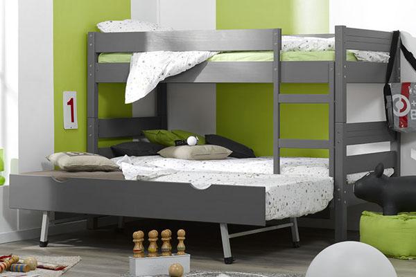 Camas literas para tres dormitorios juveniles - Litera para tres ...