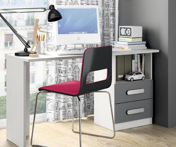Muebles para dormitorio juvenil habitaciones juveniles e for Muebles escritorios juveniles
