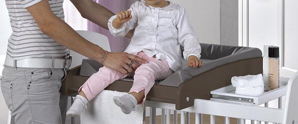 Cambiadores para beb s de cuna de pared y mueble cambiador - Cambiadores plegables para bebes ...
