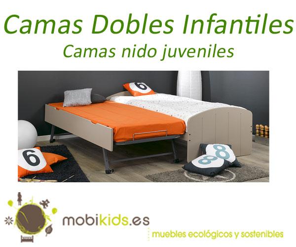 Cama nido juvenil para el dormitorio de tus hijos for Camas infantiles dobles