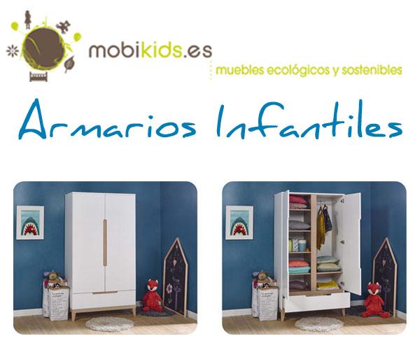 Armarios infantiles originales para dormitorios de beb Mobikids