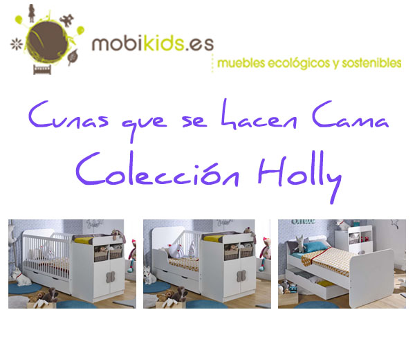 Cunas que se hacen cama individual modelo holly for Cama individual que se hace doble