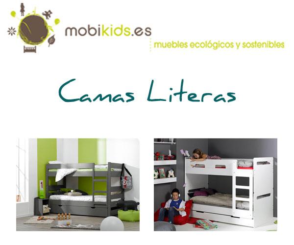 Literas juveniles con cama nido o caj n de almacenaje for Camas triples baratas