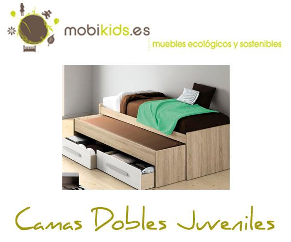 Camas dobles para niños, madera maciza y MDF