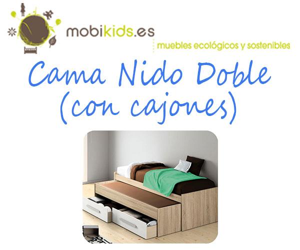 Cama nido doble con cajones para tus hijos Cama nido doble carrefour