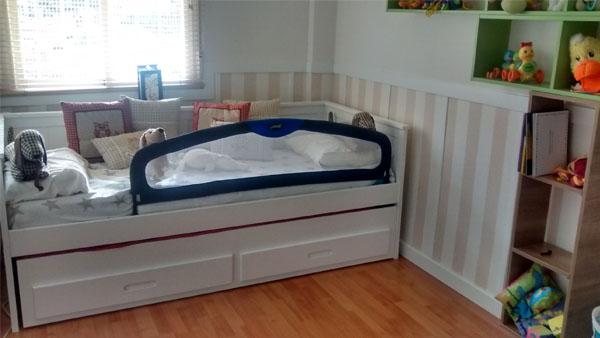 Comprar escritorio estanteria swam en color blanco for Cama nido dos colchones