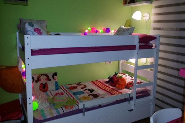 Caj n cama madera maciza 90x190cm color blanco - Literas de madera maciza ...