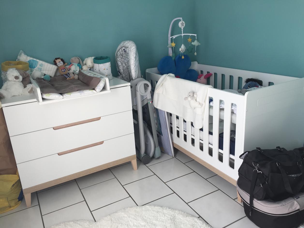 Habitaci n beb completa con cuna evolutiva for Habitacion completa bebe boy
