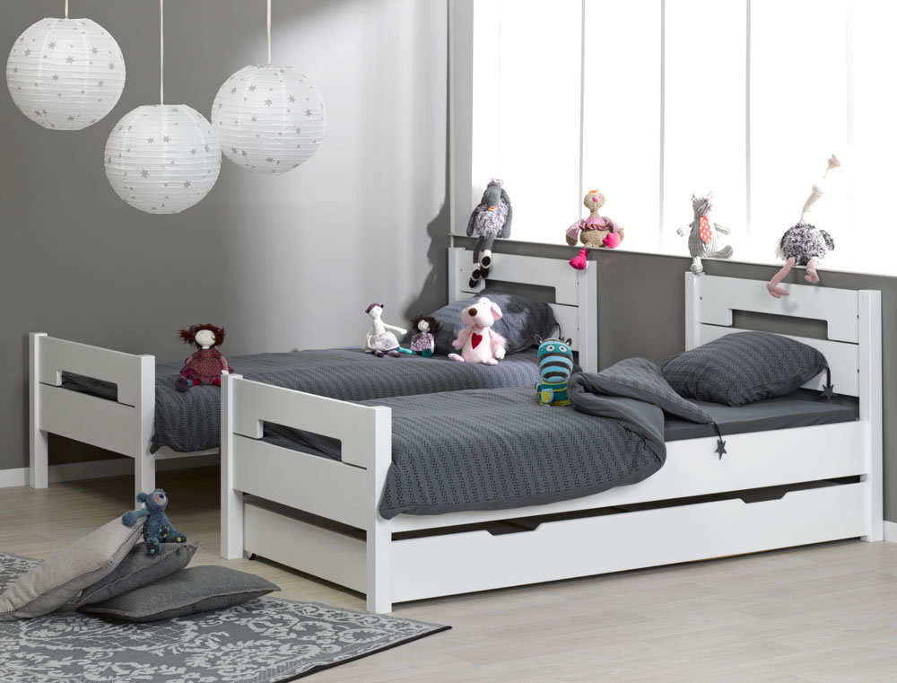 Venta de litera juvenil blanca con 3 cama opcional modelo milo - Camas infantiles blancas ...