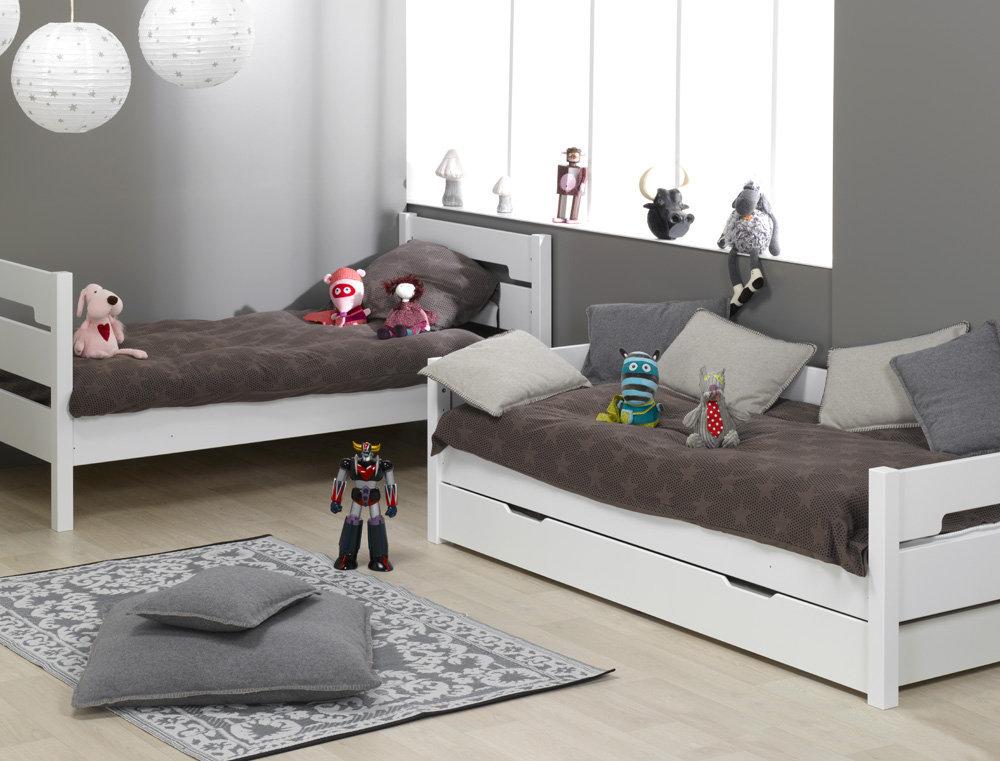 Venta de litera juvenil blanca con 3 cama opcional for Camas literas juveniles