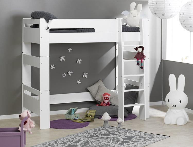 Comprar cama alta juvenil blanca. Modelo LONDON