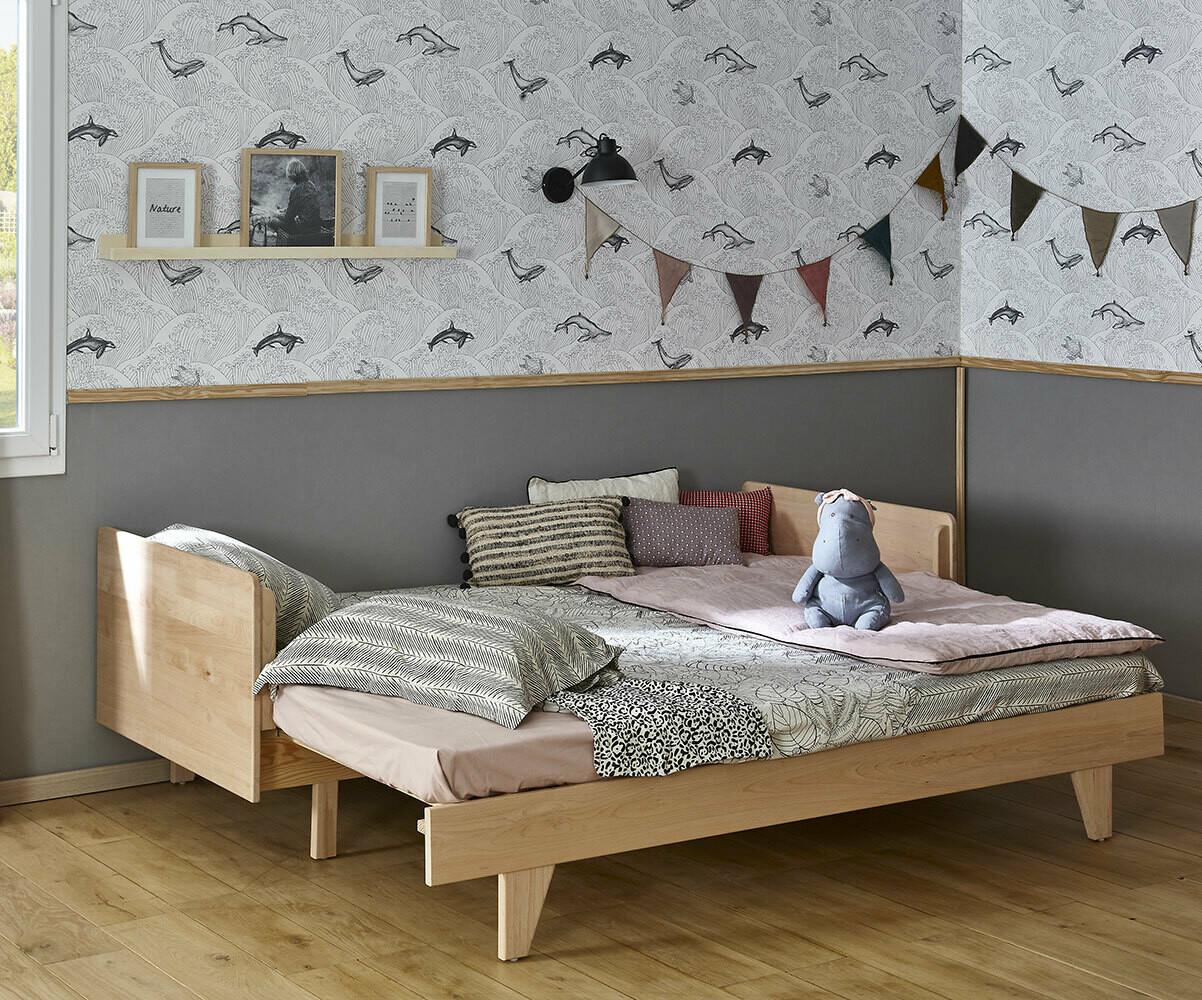 Cama nido con colchones blanca de madera maciza for Camas nido ofertas