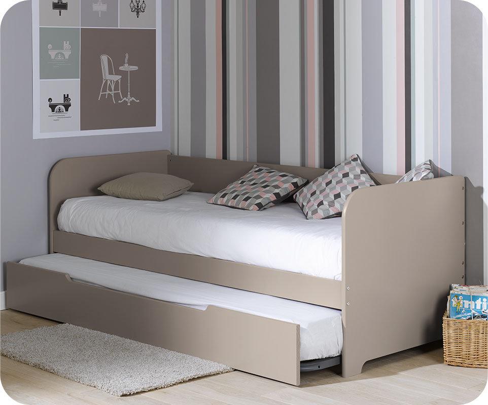sof cama nido juvenil de 80x200cm color lino modelo bali