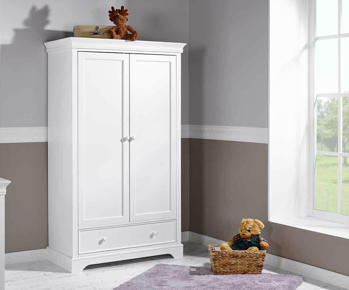 Armario beb de 2 puertas blanco modelo mel - Armario dormitorio blanco ...