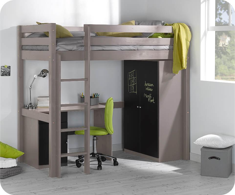 Camas altas con armario debajo excellent con la cama for Camas altas con armario debajo