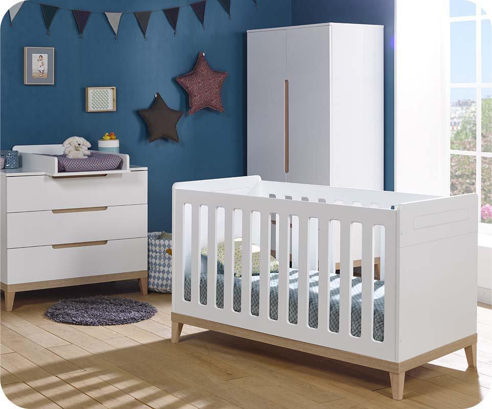 Habitación Bebé Completa con Cuna Evolutiva