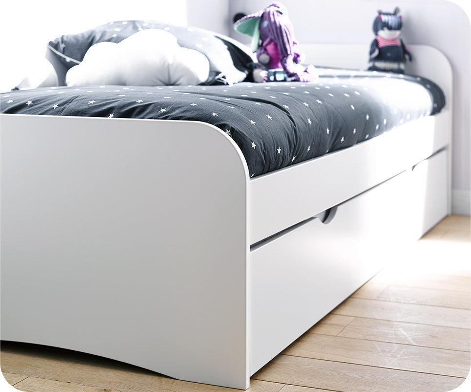 Dormitorio juvenil TWIST de 3 Muebles Blanco