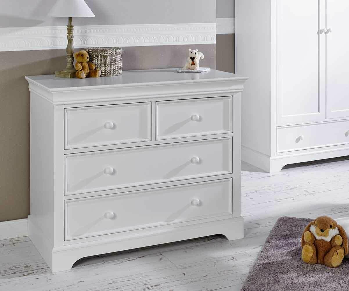 C moda juvenil blanca con 4 cajones colecci n mel - Comoda cambiador bebe ...
