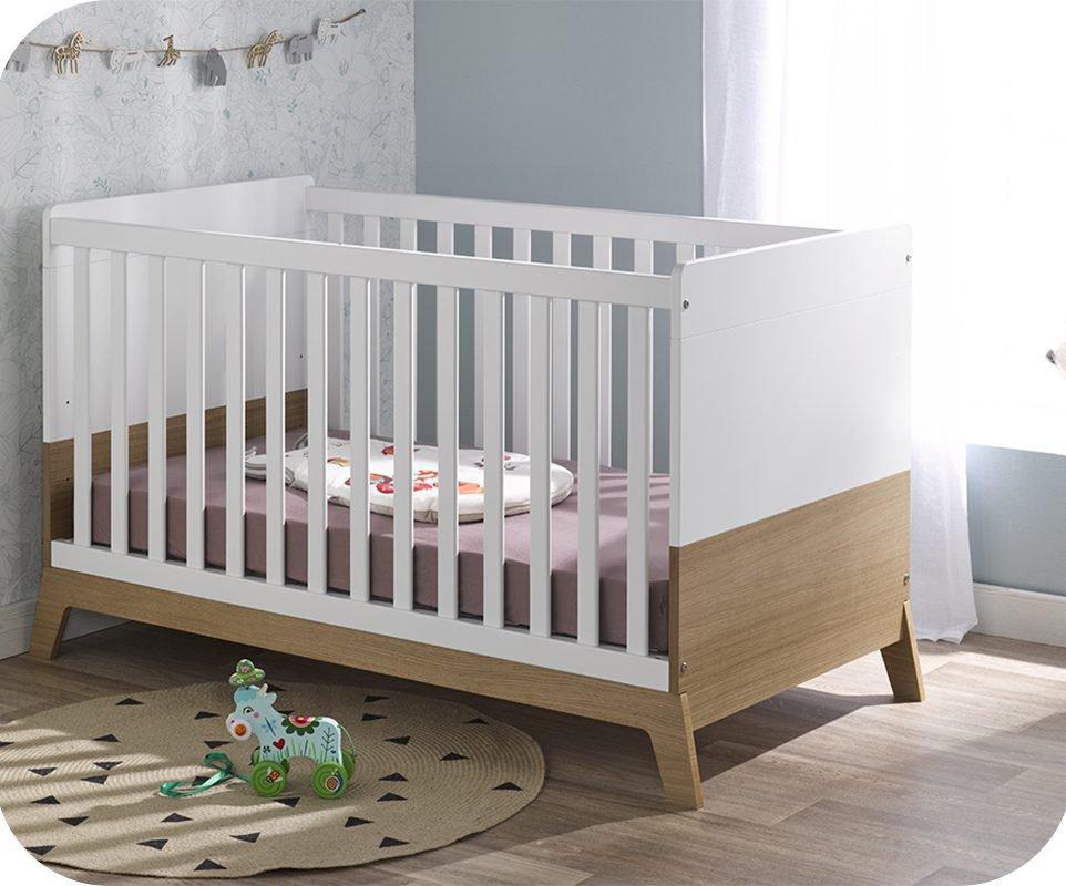Habitación Bebé Completa ALOA Blanca y Madera