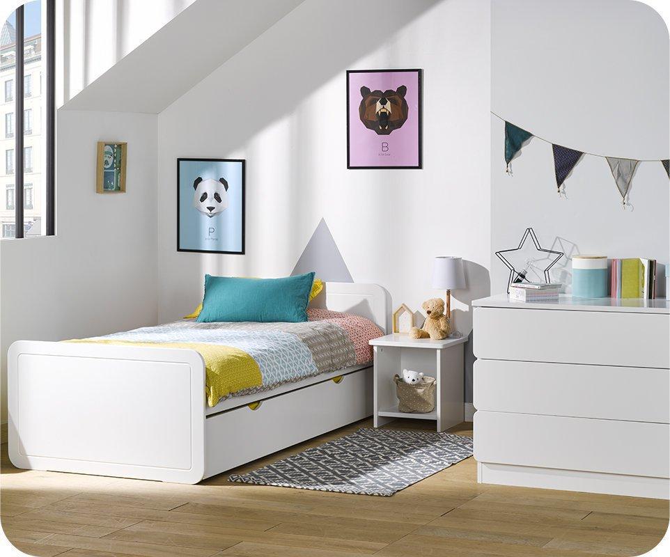 Dormitorio juvenil lemon blanco set de 3 muebles for Muebles refolio dormitorios juveniles