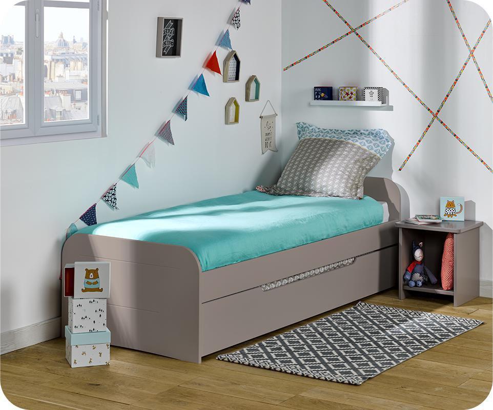 Pack Cama Nido Sleep\'In 90x190cm Lino con 2 Colchones