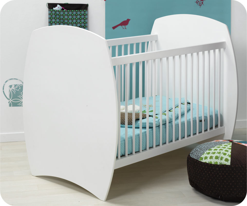 fabulous great latest top cuna beb xcm laterales de barrotes color blanco modelo medea with habitacion bebe blanca with habitacion bebe blanca with modelos - Cunas Blancas