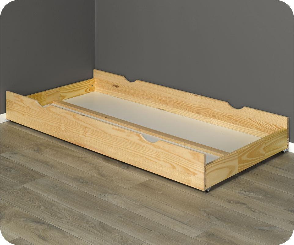 Caj n cama madera maciza 90x190cm color natural - Cajon madera ikea ...