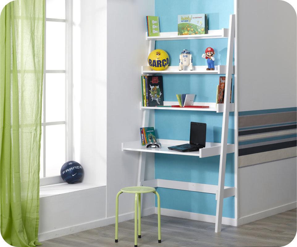 Comprar escritorio estanteria swam en color blanco - Estanterias para escritorios ...