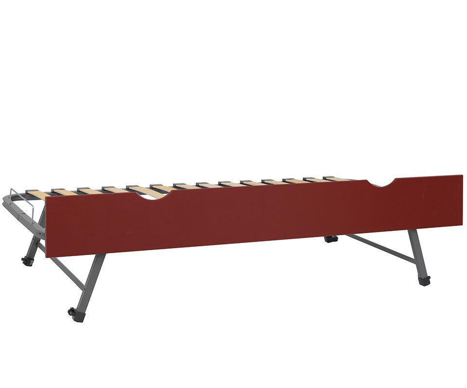 Comprar cama nido supletoria elevable en color rojo 90x190cm for Cama supletoria