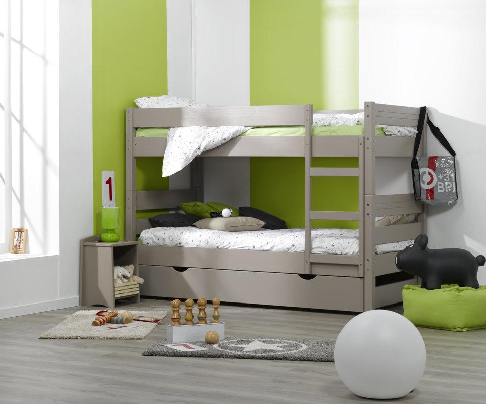 Litera 1 2 3 con cama nido supletoria lino 90x190cm - Cama nido 3 camas ...