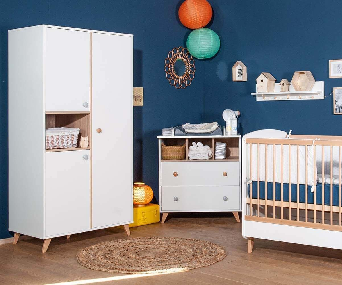 Habitaci n de beb de fabricaci n ecol gica color blanco for Habitacion completa bebe boy