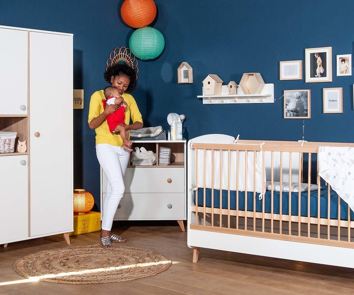 Habitaci n de beb de fabricaci n ecol gica color blanco abedul - Habitacion completa bebe ...