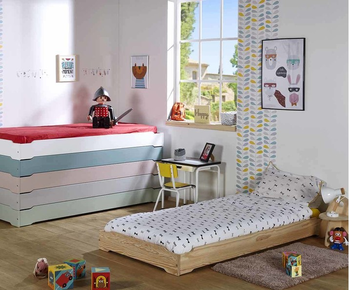Cama apilable natural - HAPPY