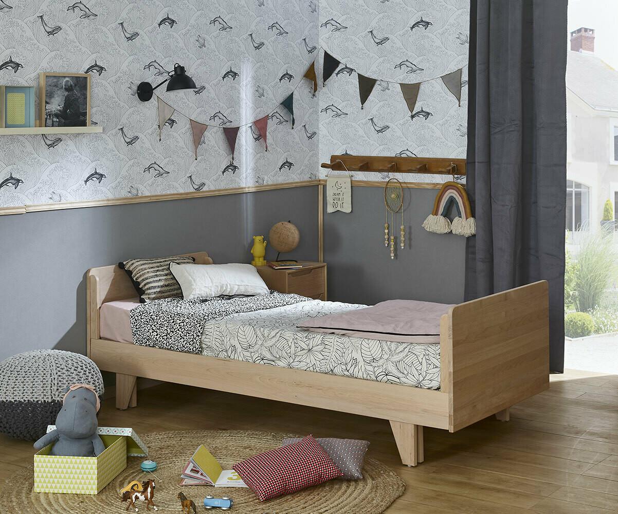 Cama nido con colchones blanca de madera maciza for Cama nido con colchones