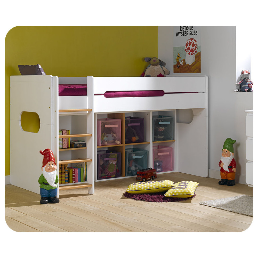 camas media altas para dormitorios juveniles e infantiles. Black Bedroom Furniture Sets. Home Design Ideas