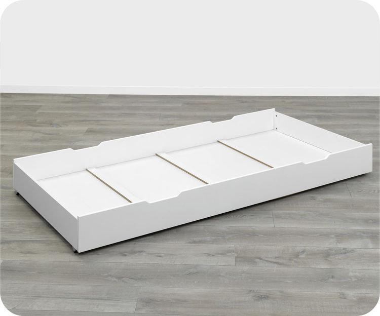 Caj n cama supletoria de 90x200 blanco modelo sydney for Cama supletoria