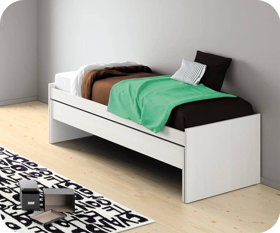 cama nido juvenil de 90x200cm color blanca