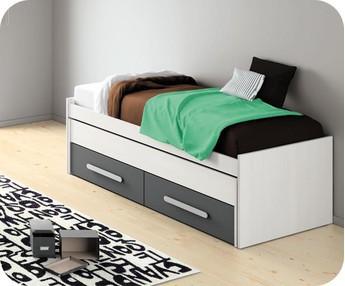 Comprar camas nido juveniles y sof s cama for Cama nido con cajones blanca