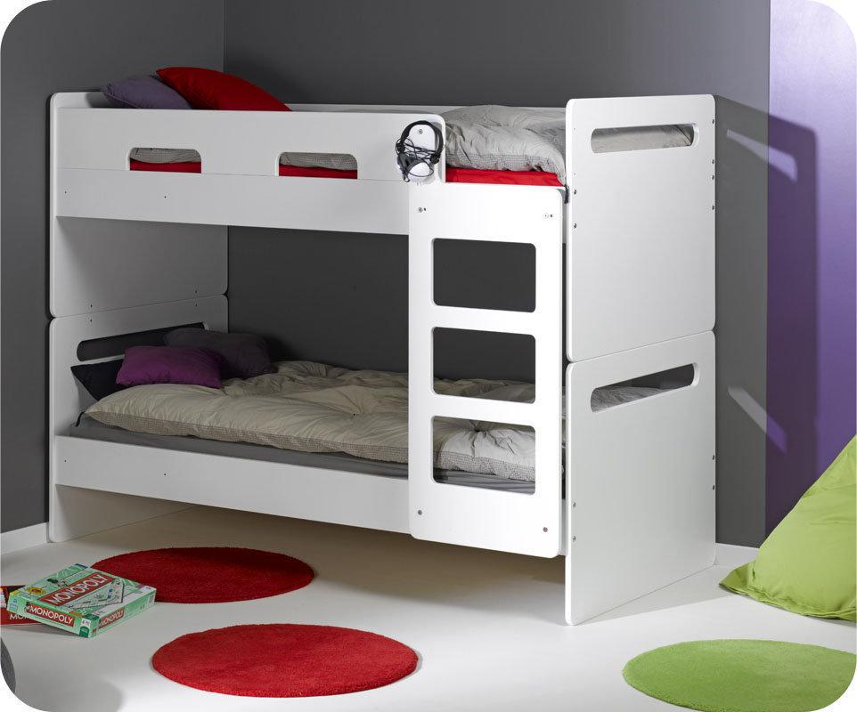 Litera eden cama nido supletoria blanca 90x190cm - Literas nido 3 camas ...