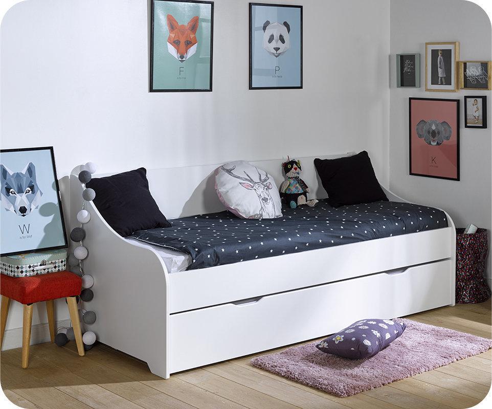 Sof cama nido 80x200cm lylo blanco for Sofa cama nido 1 plaza